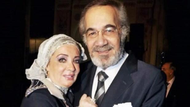 محمود ياسين وزوجته الفنانة شهيرة