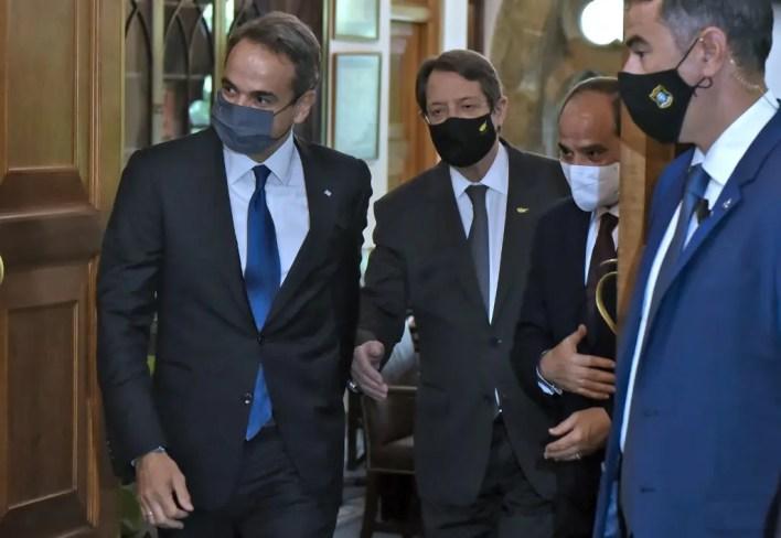 الرئيس المصري عبد الفتاح السيسي، في القصر الرئاسي في العاصمة القبرصية نيقوسيا