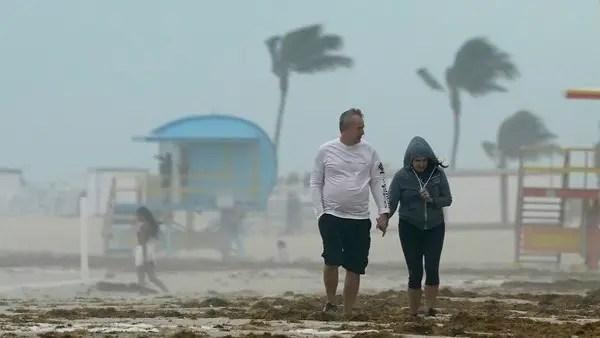 Tropical storm Eta strikes Florida, hurricane warnings declared