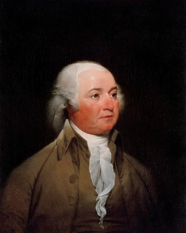 لوحة زيتية تجسد شخصية جون أدامز
