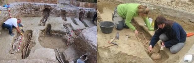 كل الرؤوس كانت موجهة إلى مكة، وكل جثمان تم دفنه على جانبه الأيمن