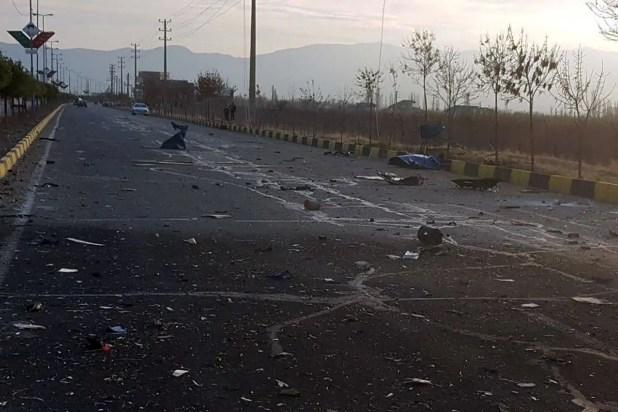 من مكان اغتيال محسن فخري زاده  (رويترز)