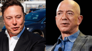 """Obtained the title of """"richest"""" from 185 billion owner Bezos"""