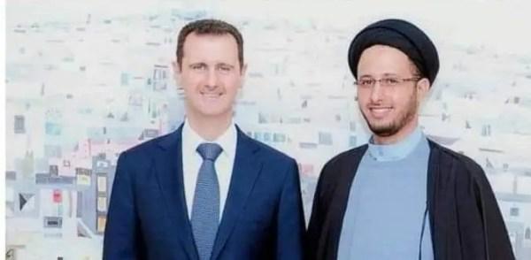 العماد مع بشار الأسد