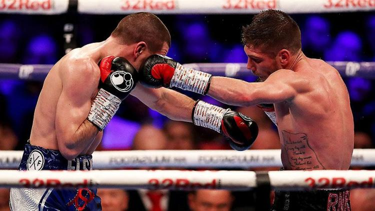 Brave Johnny Garton battled to the end, but Chris Jenkins the greater physical specimen in a classic British title brawl   Joyce vs Takam
