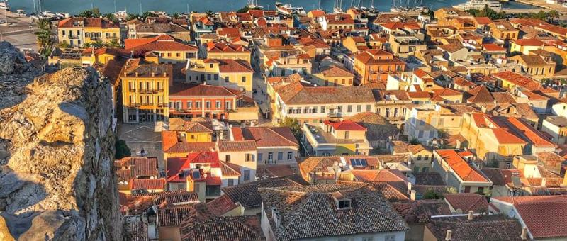 Nafplio old city downtown