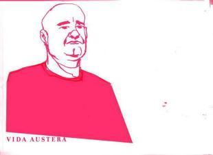 Vida Austera art campaing caricatures