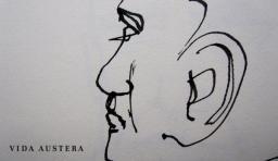 Vida Austera caricatures campaing