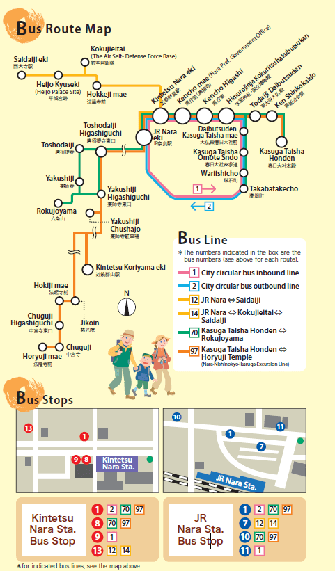 Nara Bus map