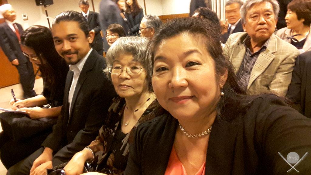 Família Tsuge no evento privativo com o Premie do Japão, o Mario Bros da Olimpiada