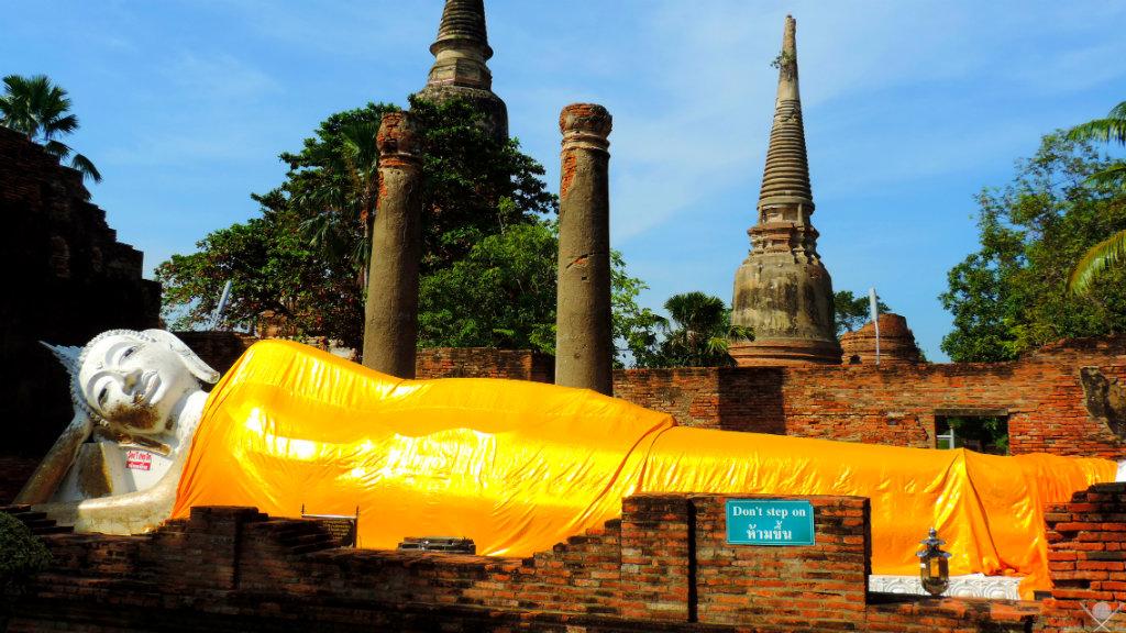 Thailand Ayutthaya Wat Yai Chaya Mongkol 1 Vida de Tsuge VDT 1024x576
