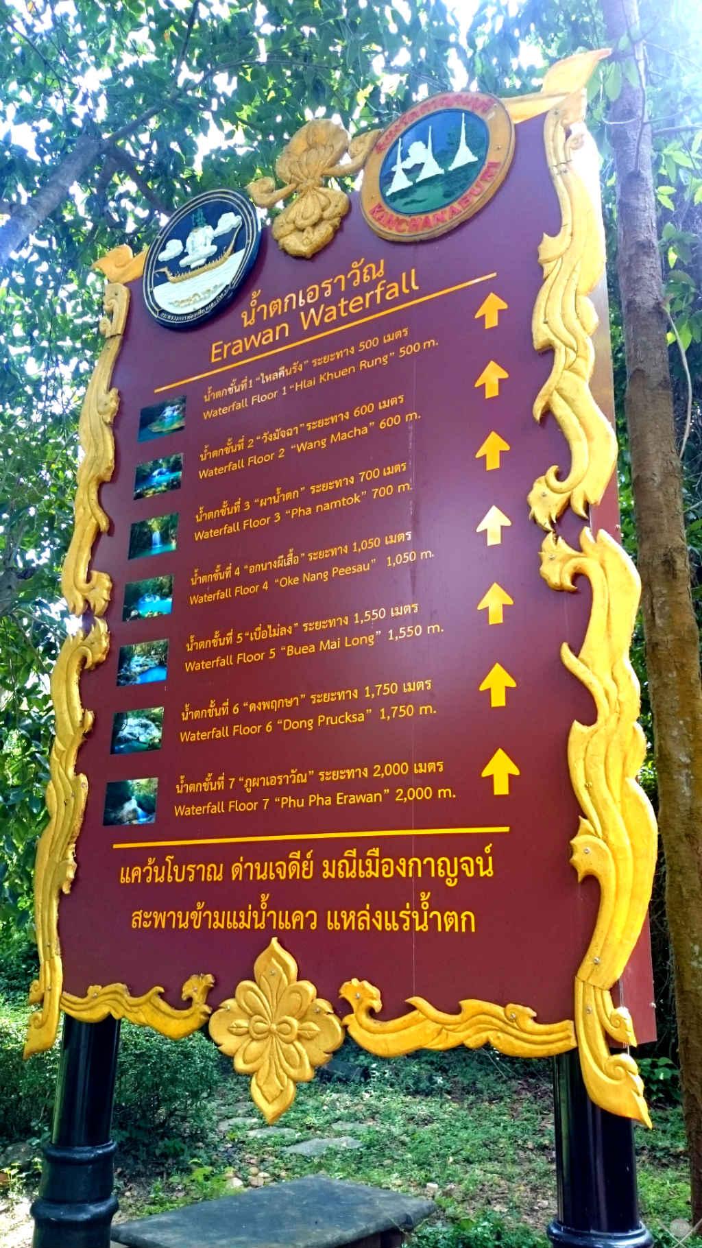 Thailand Kanchanaburi Placa Erawan Waterfall Vida de Tsuge VDT 1024x1820