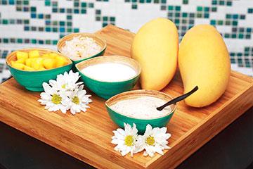 Mango sticky riceingedientes