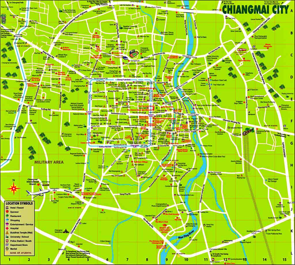 Thailand - Chiang Mai - Chiang Mai City Map - Viagens - Vida de Tsuge - VDT