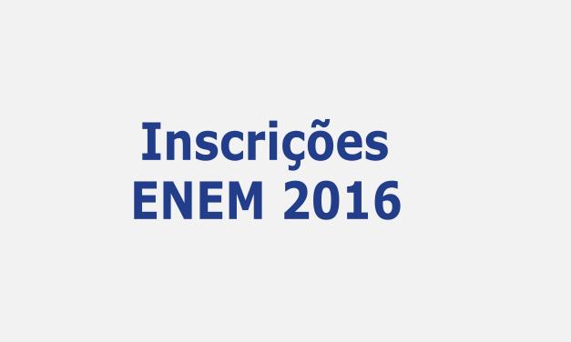 Inscrições ENEM 2016