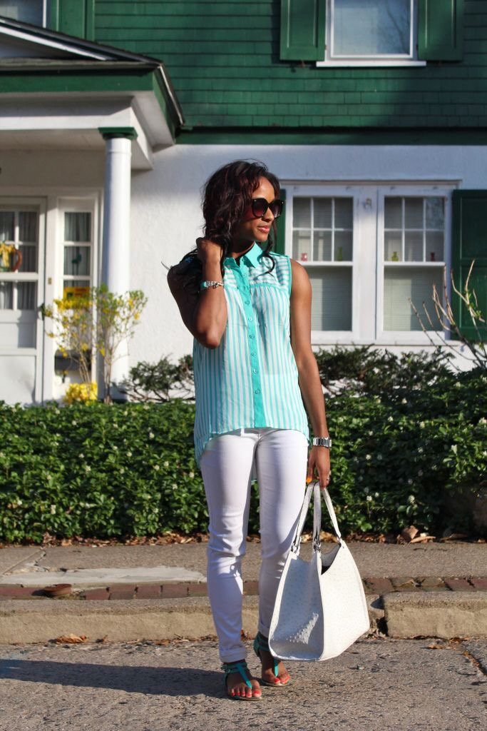 Spring Staple: White Jeans