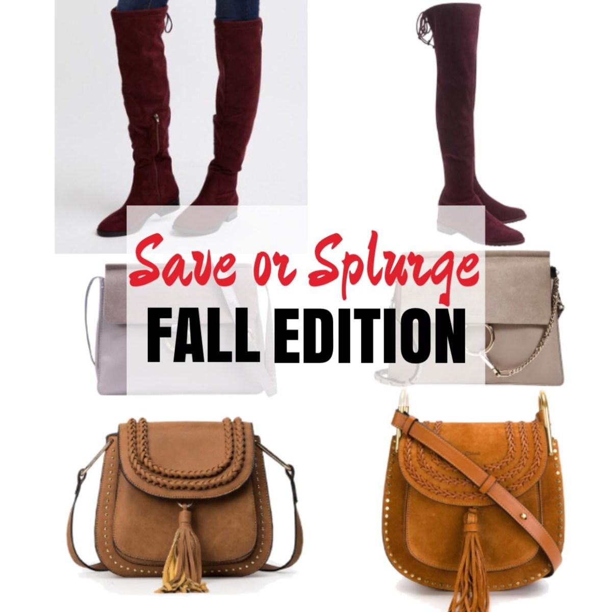 Fall Edition Save vs Splurge