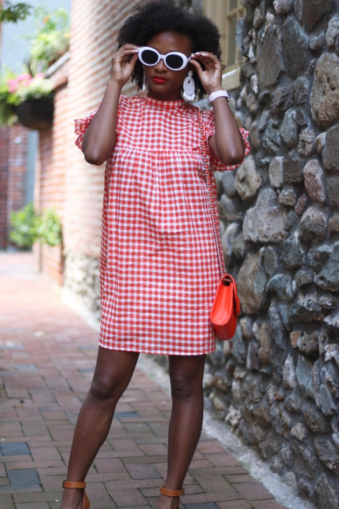 Orange Gingham Dress2