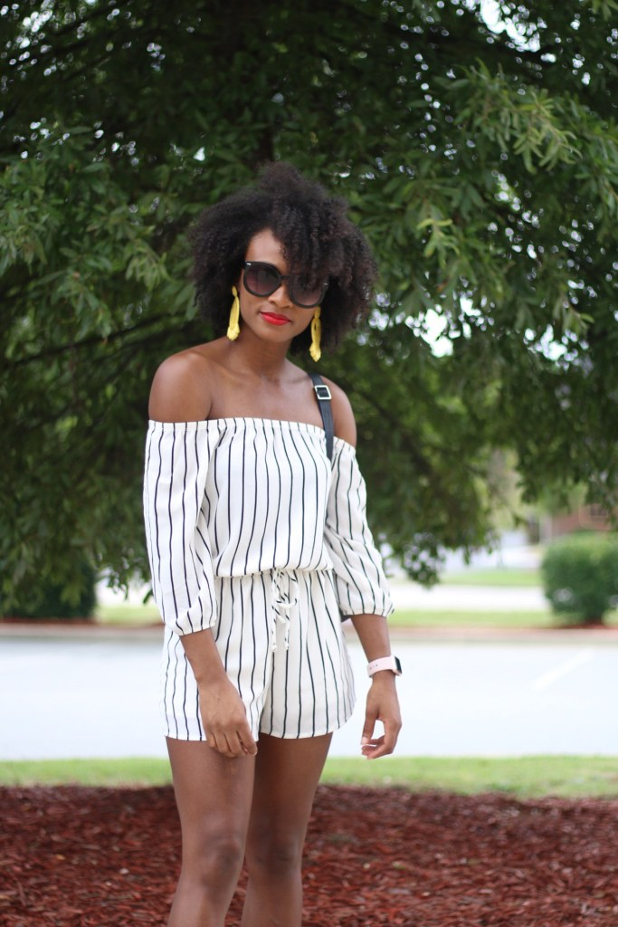 OTS Striped Romper