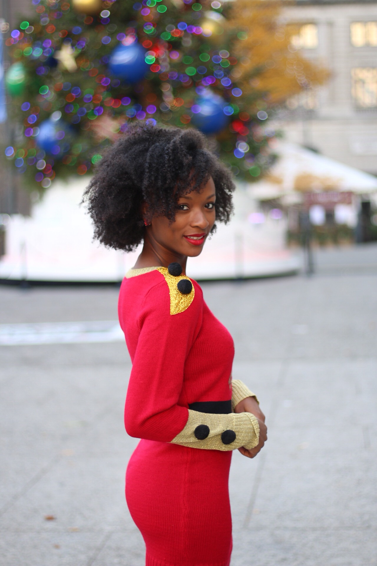 Nutcracker Holiday Sweater Dress