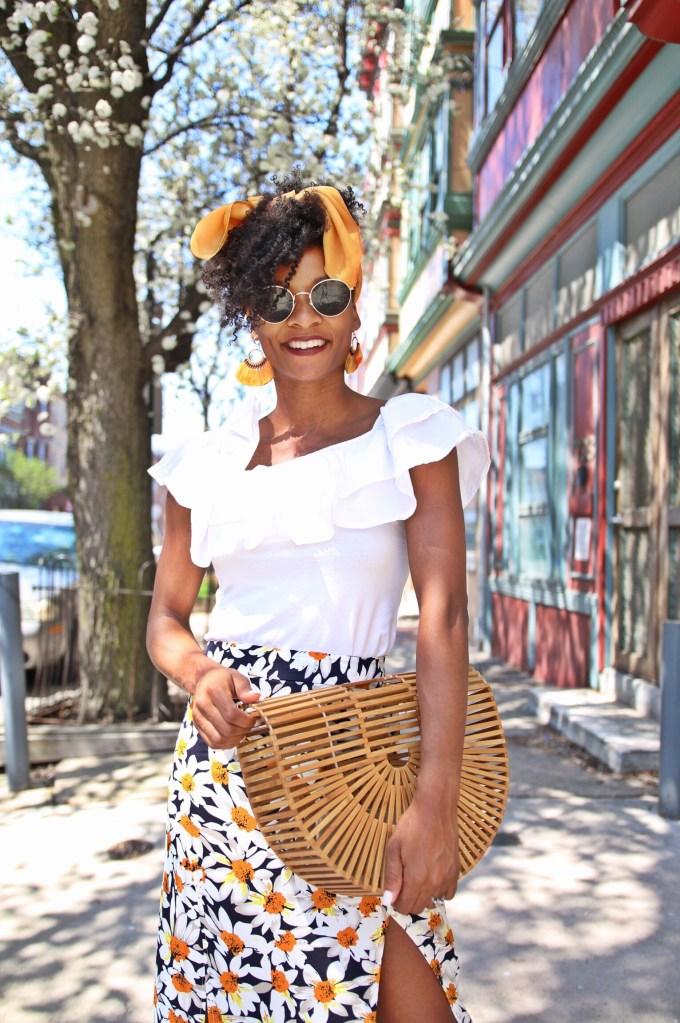 Daisy Print Skirt1