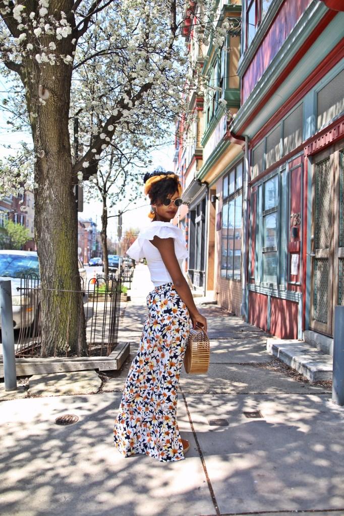 Daisy Print Skirt9