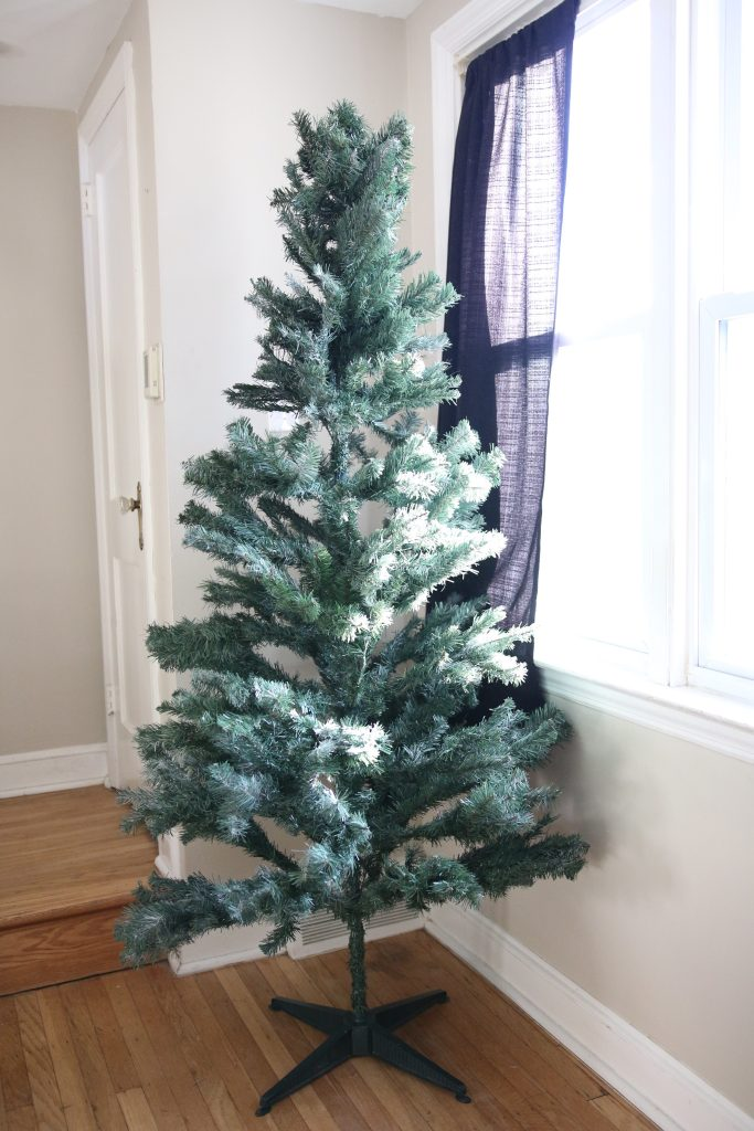 DIY Flocked Christmas Tree11