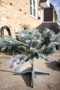 DIY Flocked Christmas Tree