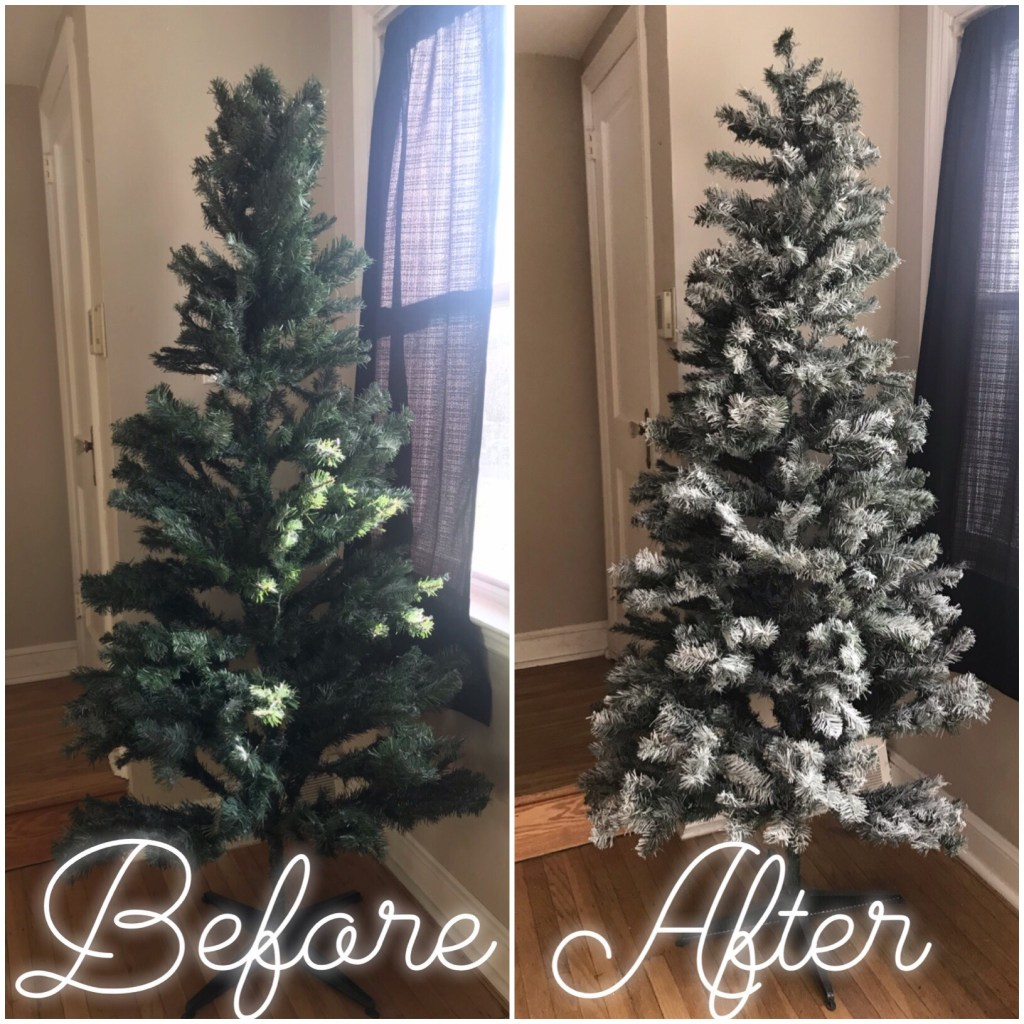 DIY Flocked Christmas Tree1