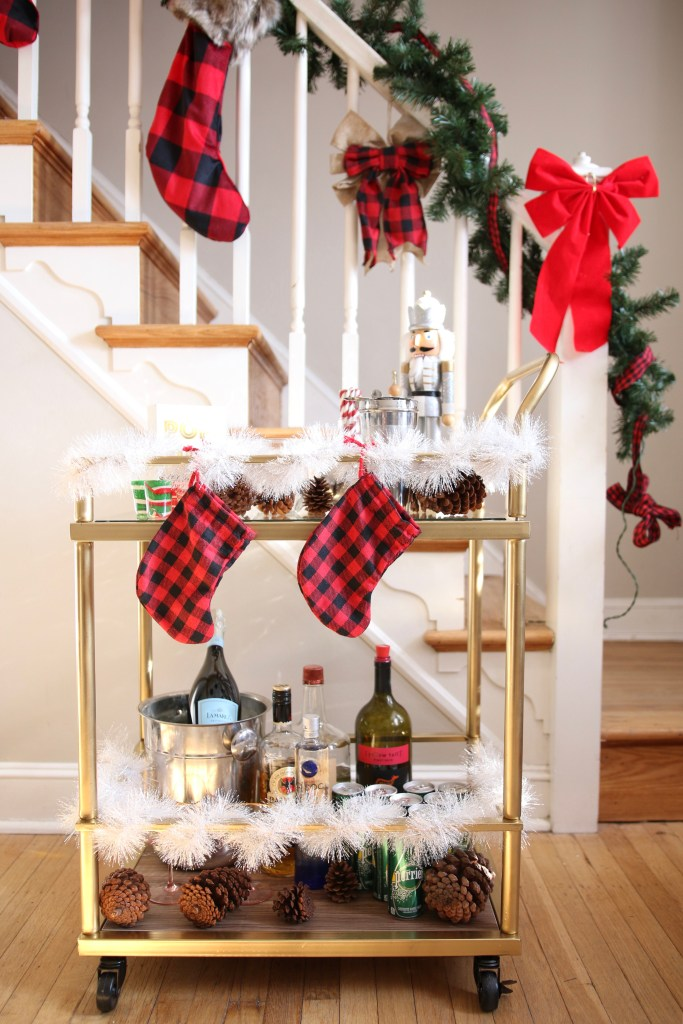 Holiday Bar Cart Styling
