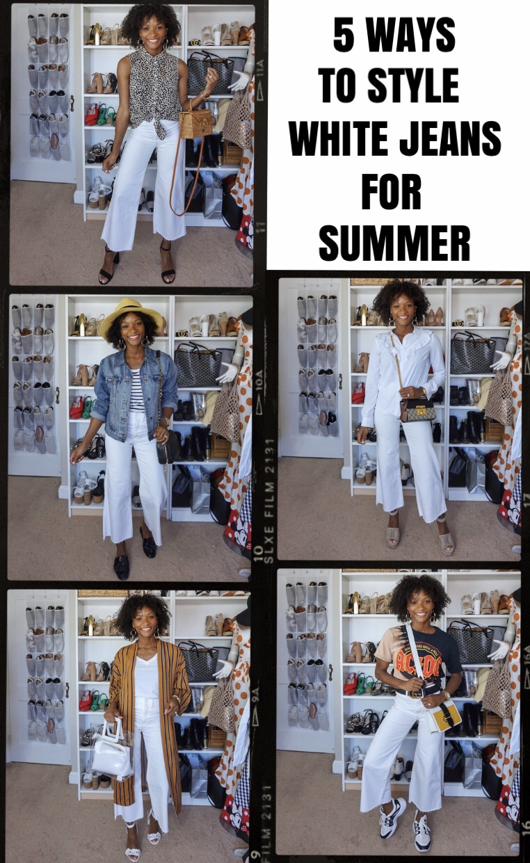 5 Ways To Style: White Jeans For Summer