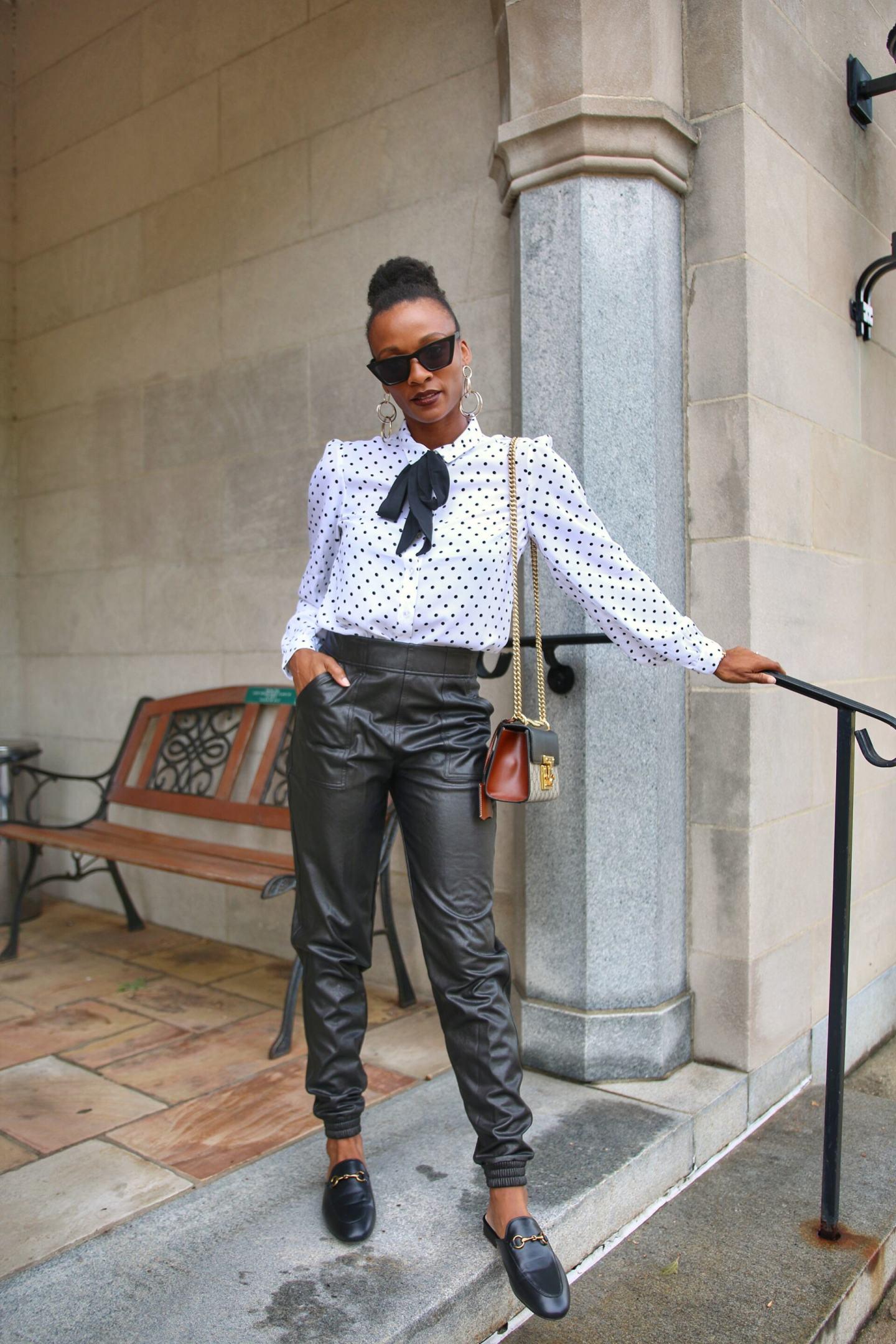 Spanx Leather Like Joggers