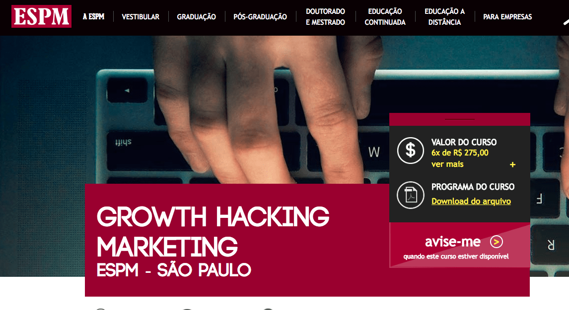 curso growth hacking espm