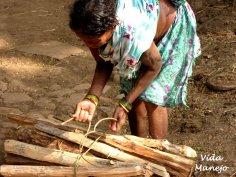Assembling wood for trade