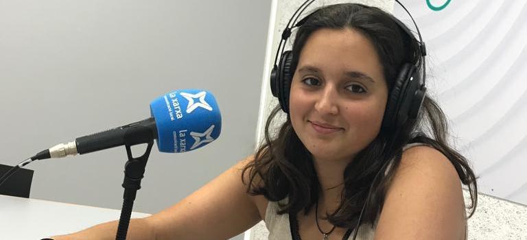 Entrevista de Judit Camps a la radio