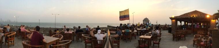 Cafe del mar murallas de Cartagena