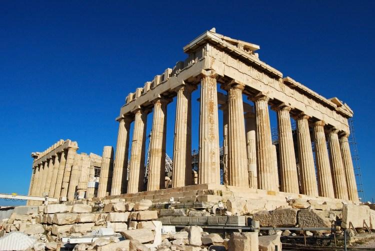 Parthenon en la Acrópolis de Atenas