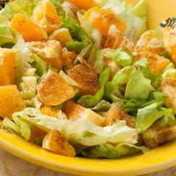 ensalada crocante de naranja