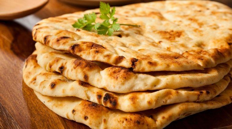 receta de pan Naan
