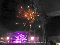 Fireworks over the stage