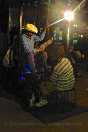 The shoe shine guys really get a workout here in Durango.