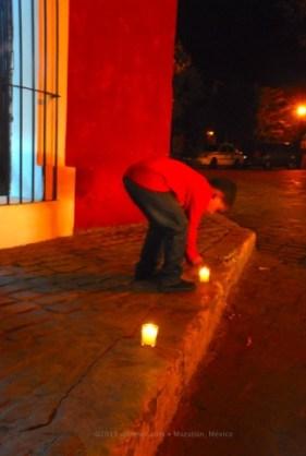 Lighting a sparkler