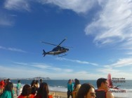 Helicopter patroling for safety