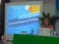 Dianne giving her presentation