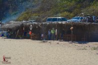 Huts against the cliff