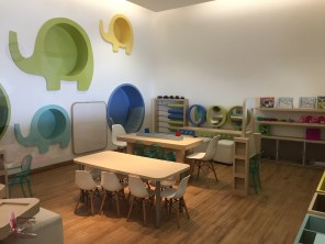 Children's play room with babysitting service