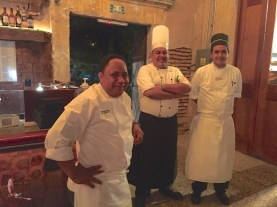 Chefs waiting for the main event to begin