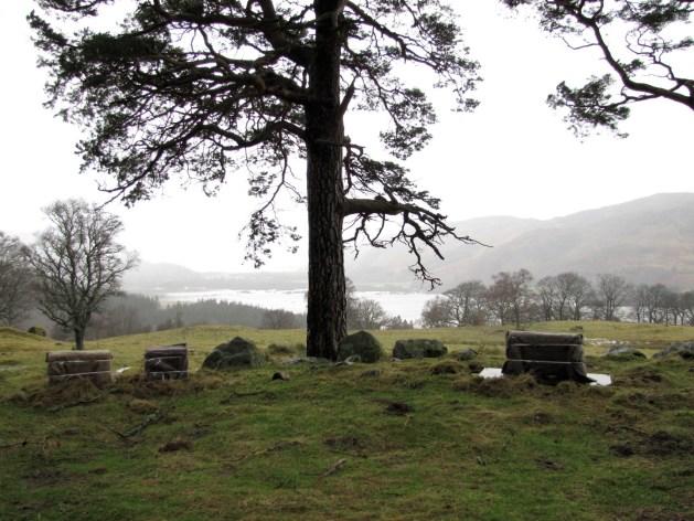 Local onde Craig na Dun foi construído para as filmagens de Outlander.