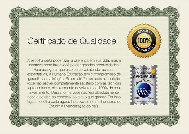 Certificado memória 360º
