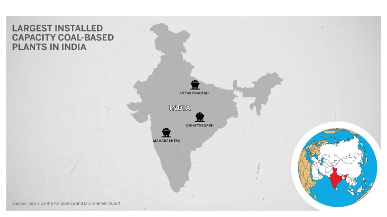 Locations of power plants